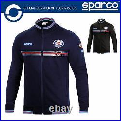 New! 2021 Sparco Martini Racing Full Zip Sweatshirt Jacket Lancia Rally Team