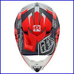 New Troy Lee Designs SE4 Full Carbon Flash Red Team Helmet Adult Large Mx TLD