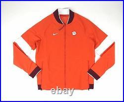 Nike Clemson Tigers Sideline Therma Full Zip Jacket Men's Medium AO5854 Orange