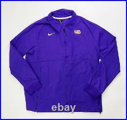 Nike LSU Tigers Team Therma Midweight Jacket Men's Large Full Zip CI4472 Purple