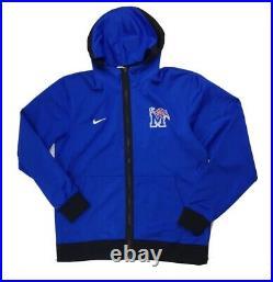 Nike Memphis Tigers Showtime Full Zip Basketball Hoodie Mens L Royal Blue DC2445