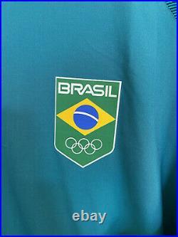 Nike Mens XL Green Brazil Olympic Soccer Team Full Zip Up Jacket Neymar Jr