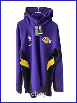 Nike NBA Lakers Team Player Issued Therma Flex Showtime Full-Zip Hoodie Sz XLT
