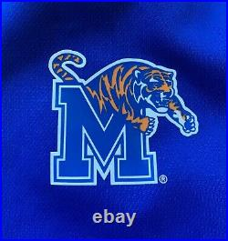 Nike NCAA Memphis Tigers Showtime Full Zip Hoodie Pants Jumpsuit Sz L Royal Blue