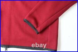 Nike Sportswear Tech Fleece Men Full Zip Hoodie Jumper Team Red Cu4489-677 L