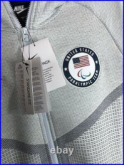 Nike Tech Pack Full Zip Windrunner USA Paralympics Team Sz S Ct2801-043