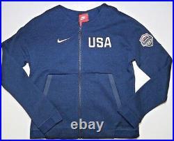 Nike Womens Tech Fleece Team USA Basketball Full Zip Jacket Olympics Sz M, XXL
