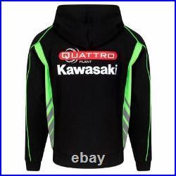 Official Quattro Plant Kawasaki Team full zip Hoodie 19QK-AH