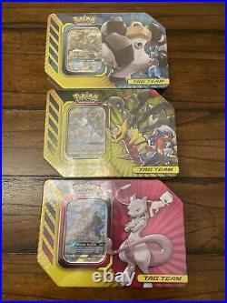 Pokemon TCG Full Tag Team TinSet of 3 Mewtwo Lucario Melmetal GX Factory Sealed