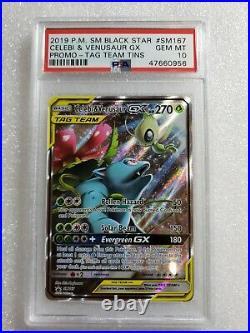 Pokemon Venusaur GX SM167 Full Art Ultra Rare Tag Team PSA 10 Gem Mint