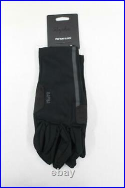 RAPHA Men's Black Reflective Pro Team Full Finger Cycling Gloves XL BNWT