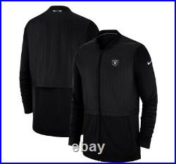Raiders Nike Sideline Full Zip Up Jacket Black Size 3xl Team Issued