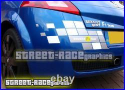 Renault Megane F1 team stickers graphics decals FULL MK2