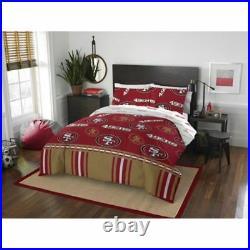 San Francisco 49ers NFL Full 5 Piece Comforter Bedding Team Logo Bed in Bag Set