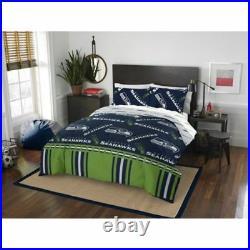 Seattle Seahawks NFL Full 5 Piece Comforter Bedding Team Logo Bed in Bag Set