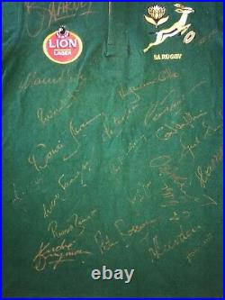 South Africa Springboks Rugby Union Jersey SIGNED by FULL 1997 Team -(AUTHENTIC)