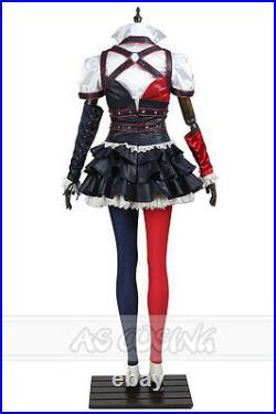 Suicide Squad Har Qinn Cosplay Costume Full Set+Shoes Custom made Halloween