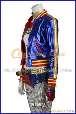 Suicide Squad Harley Quinn Batman Cosplay Costume Amazing Girl Full Set Outfits