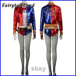 Suicide Squad Harley Quinn cosplay Outfit with Jacket Bottom Custom Size Belt