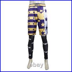 Suicide Squad Joker Cosplay Costume Purple Jacket Pants Full Suit for Halloween