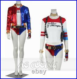 Suicide Squad Joker Har Qinn Cosplay Costume Halloween Costume Full Set