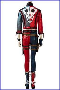 Suicide Squad Kill The Justice League Harley Quinn Cosplay Costume Full Set lot