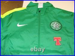 Team Celtic FC 2013 Soccer Full Zip Sideline Woven Jacket M Top Football NWT