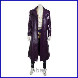 The Joker Suicide Squad Jared Leto Purple Coat Halloween Costume