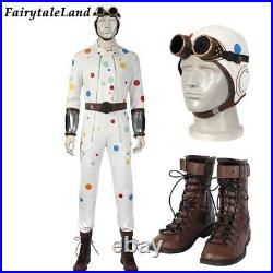 The Sucide Squad 2 Polka Dot Man Cosplay Costume Halloween Abner Krill Jumpsuit