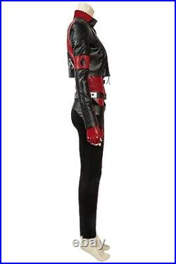 The Suicide Squad 2 Harley Quinn Full Set Cosplay Costume Halloween + Shoes