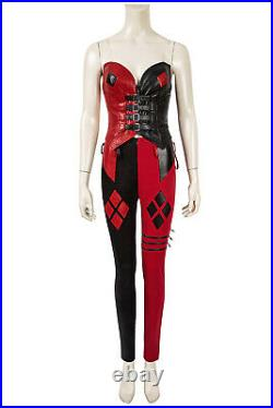 The Suicide Squad 2 Harley Quinn Full Set Halloween Cosplay Costume with Shoes