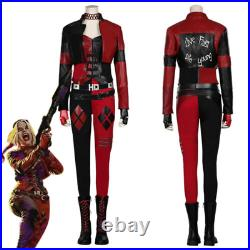 The Suicide Squad Cosplay Harley Quinn Costume Halloween Outfit Full Set