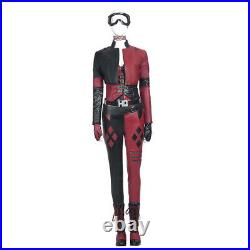 The Suicide Squad Harley Quinn Cosplay Costume Leather Deluxe Full Set lot