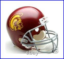 USC Trojans NCAA College Football Team Logo Riddell Deluxe Full Size Helmet