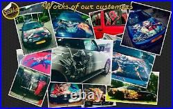 Vinyl Car Hood Wrap Full Color Graphics Decal Harley Quinn Suicide Squad Sticker