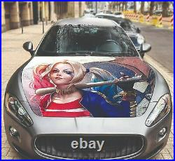 Vinyl Decal Hood Wrap Full Color Graphics Sticker Harley Quinn Suicide Squad