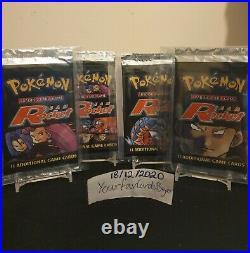 WOTC Pokemon Team Rocket Booster Pack full art set 4 packs