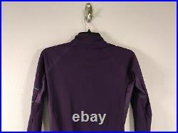 Women's Rapha Pro Team Long Sleeve Full Zip Thermal Jersey Size S Purple